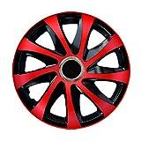 Radzierblende DRIFT EXTRA rot/schwarz 14 Zoll 4er Set