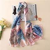 Hmeili Schals Frauen Schal Mode Weiche Nachahmung Seidentücher Weibliche Schals Vertuschungen Wickelt Bandana