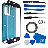 Kit de remplacement d'écran tactile pour Samsung Galaxy S4 MINI i9190 i9195 NOIR; inclus: Vitre de rechange; Pincette; Ruban adhésif 2mm; Chiffon microfibre; Kit d'outillage spécifique; fil métallique