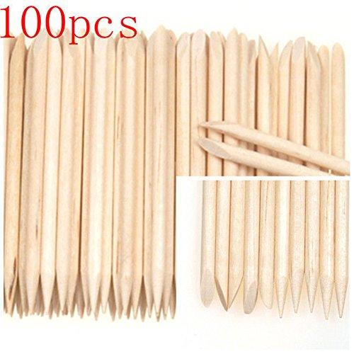 lyhhai Nagelhaut-Holzstäbchen für Pediküre, 100 Stück (Nagelfeilen Bulk)