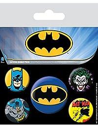 Batman Buttons Pack. Offiziell lizenziert