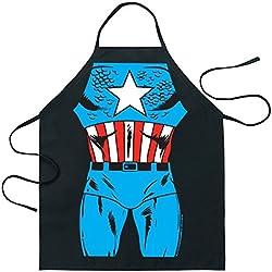 ShopINess - Divertido delantal cocina Capitán América