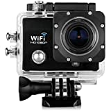 Floureon Q5 12MP 2.0 inch 170° HD Lens WIFI Sostegno 32GB Max HD DV Visione Notturna Action Sports Cam Camera Waterproof Full H264 Videocamera Subacquea DV Action Sport Video Camera (Nero)