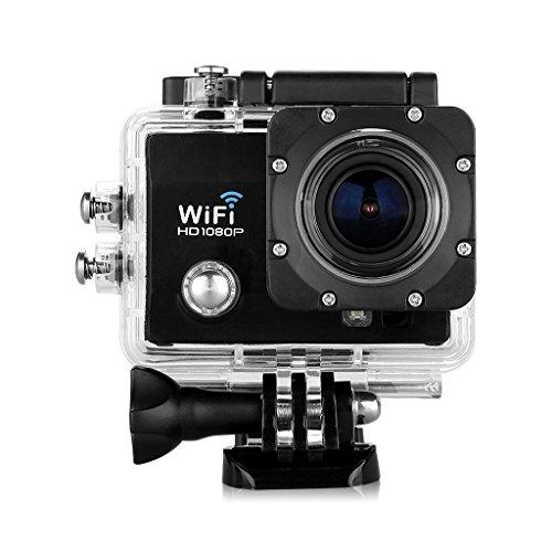 """Q5 Multifonction 2.0"""" HD LCD Camera Sport 30M Étanche FHD 1080P 12MP H.264 WIFI Caméra embarquée 170 degrée Anti-vibration - Noir"""