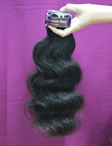 JFF/ Großhandel 1 kg 20balls lot peruanischer remy Körperwellen-Menschenhaar peruanisches reines Haar orginal menschliches Haar Weben , 22 inch & 24 inch-natural color