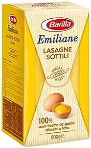Barilla - Lasagne all'Uovo Le Sottili - 3 confezioni da 500 g [1500 g]