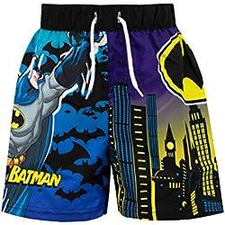 DC Comics Bañador para Niño Batman Negro 7 a 8 Años
