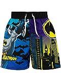 DC Comics Costume da Bagno per Ragazzi a Due Pezzi Batman Nero 5-6 Anni