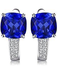JewelryPalace Erstellt Rubin Saphir Ohrring Ohrstecker 925 Sterling Silber