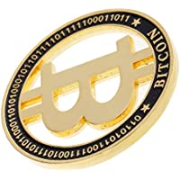 Sharplace Chapado Dorado BITCOIN Moneda Conmemorativa Juguetes