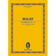Sinfonie Nr. 25 g-Moll: KV 183. Orchester. Studienpartitur. (Eulenburg Studienpartituren)