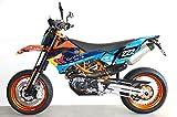 Blue 690 SMC SMC/R Enduro (08-17) | Factory DEKOR Decals KIT Aufkleber Graphics