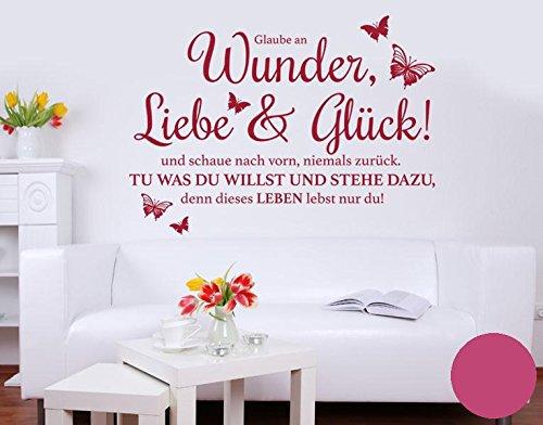 Klebefieber Wandtattoo Wunder, Liebe & Glück
