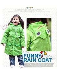 HuntGold Chaud vendre imperméable encapuchonné mignon/imperméable Enfant pour garçons filles(vert)