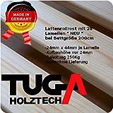 TUGA Holztech Naturprodukt FSC 28 LEISTEN bis 250Kg in der Größe 90 x 200 cm ROLLROST Lattenrost Qualitätsarbeit aus Deutschland unbehandelt, frei von Chemie -