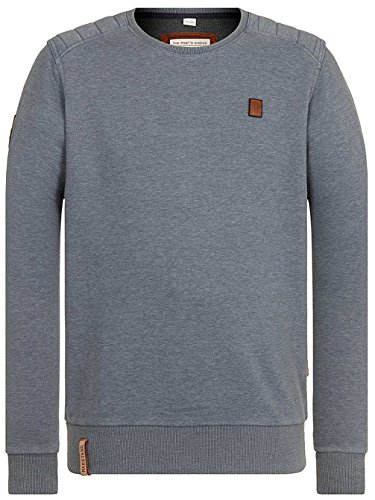 Naketano Male Sweatshirt First Blood VI heritage dark ash melange