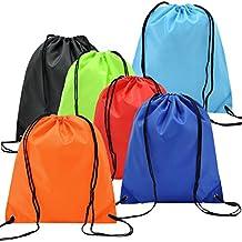 6 Pack Mochila Saco Bolsa Nylon de Cuerdas, EASEHOME Saco de Deporte Bolso de Gimnasio