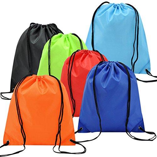 6 Pack Mochila Saco Bolsa Nylon de Cuerdas, EASEHOME Saco de Deporte B