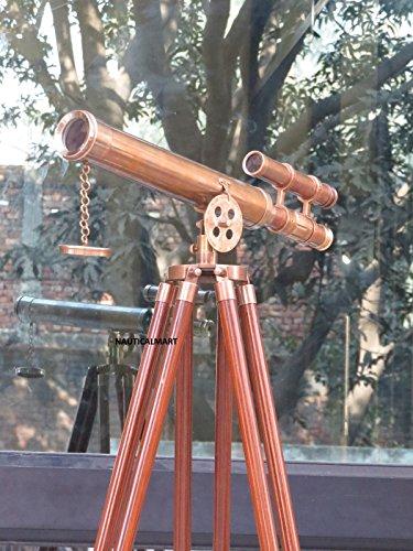 Pie marrón envejecido Griffith telescopio astro 45