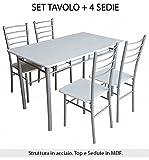 SET TAVOLO CON 4 SEDIE INCLUSE MISURE CM. 120X70 immagine