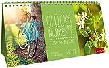 Glücksmomente für jeden Tag 2017: 3-teiliger Tischkalender mit Monatskalendarium