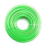 Robuster Nylon-Draht / Nylon-Schnur für Freischneider, grün, 3.0mmx60m