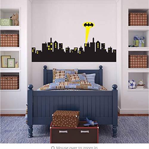 andaufkleber Gotham City Skyline Batman-Abziehbild Entfernbarer Wand-Aufkleber Hauptdekor-Kunst ()