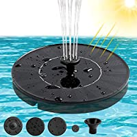 infinitoo Bomba de Fuente Solar, Fuentes para Estanques 1.4W Solar Panel Solar Flotante Bomba de Agua Solar Utilizado para Fuente, Piscina, Jardín, Estanque, Decoración de Jardín - con 4 Boquillas
