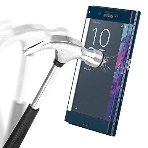 Sony Xperia XZ Bildschirmschutz, APICI 3D Full Coverage Schutzfolie Ultra Transparenz Schutzglas Panzerglasfolie Curved Folie Hartglas