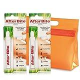 AfterBite - Doppelpack Stift Mücken-Moskito Zecken Bisse Stiche, Gegen Bienen Wespen Quallen BiteAway + KULTURBEUTEL
