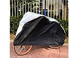 JKHGJUH Durable Fahrrad Motorrad Sonnenschutz Staubdicht und Wasserdicht Cover (Silber/Schwarz)