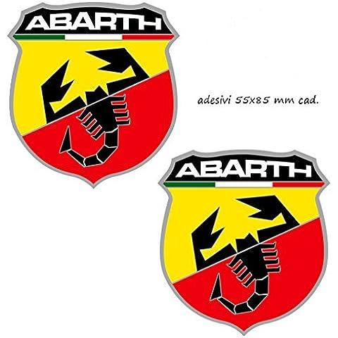 5Pegatinas Logo Abarth Escorpión Italia Fiat 500Punto WRC (55x 85mm CAD.)