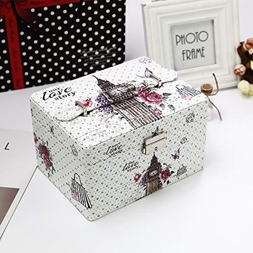 zhenfa Gedruckte Schmuck Aufbewahrungsbox europäischen Schmuck Kosmetik Box exquisiten Schmuck Box Kosmetikbox Kleid Ing-Box Reisen mehrschichtige Aufbewahrungsbox (Platzierung Dekoration)