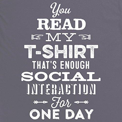 Social Interaction T-Shirt, Damen Anthrazit