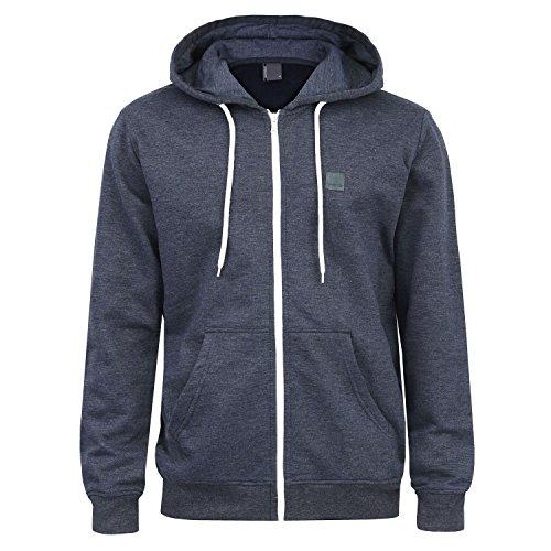 Imako-Karim, Kapuzenpullover, blue.melange, Gr. XL (Reißverschluss-hoodies)