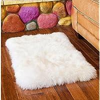 Ustide Australian Sheepskin Area Rug Long Wool Floor Rug White Living Room Rug Modern Bedroom Area Rugs Fur Carpets