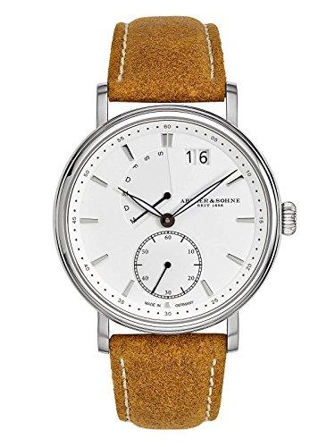 Abeler & Söhne–Made in Germany–Orologio da uomo con retrogradem giorno della settimana, Vetro Zaffiro e cinturino in pelle as2681