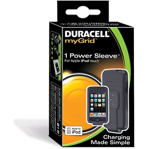 Duracell myGrid iPod Touch Power Sleeve - Cargador (Interior, MP3, MP4, Batería, Negro, iPod Touch 8gb, 16gb, 32gb,