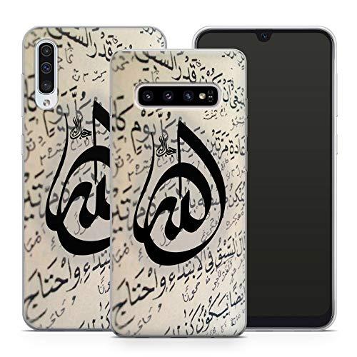 Handyhülle Allah für Samsung Silikon Gott Muslim Mekka Koran Islam Gott Hadsch Mohammed Ramadan, Hüllendesign:Design 1 | Silikon Klar, Kompatibel mit Handy:Samsung Galaxy A50