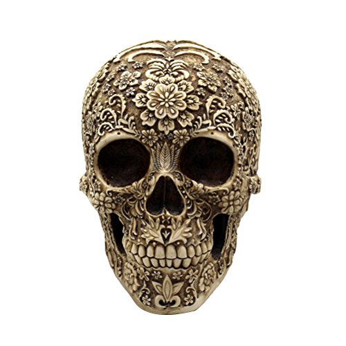 OULII Halloween Dekoration Totenkopf Menschliche Schädel Gothic - Halloween-dekoration Totenkopf