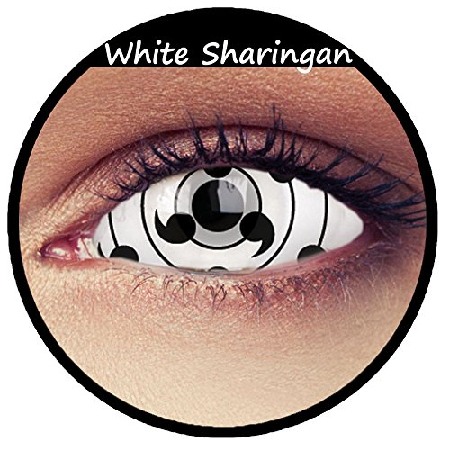 Naruto Kontaktlinsen - Weiße Naruto Shippuuden Sclera Kontaktlinsen 22mm