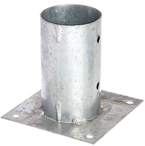 GAH-Alberts 211653 Aufschraubhülse für Rundholzpfosten - feuerverzinkt, Ø81 mm