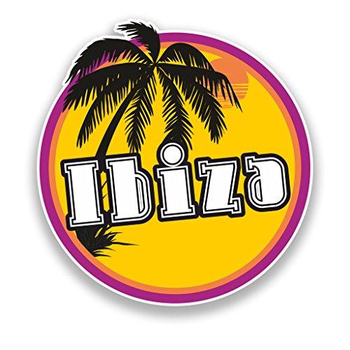 2x Ibiza Sunset Vinyl Aufkleber Reise Gepäck Beach # 7120 - 10cm/100mm Wide -