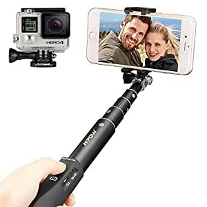 mpow selfie stick extendabel aluminum monopod mit elektronik. Black Bedroom Furniture Sets. Home Design Ideas