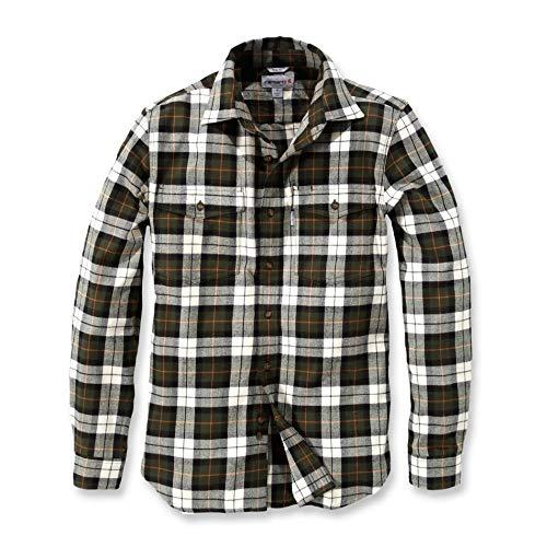 Carhartt .102332.235.s007RO Slim Fit Flanell Hemd, Farbe: Hellbraun, Größe: X-Large -