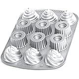 Nordic Ware 85024 molde lleno Cupcake Cake Design aluminio fundido