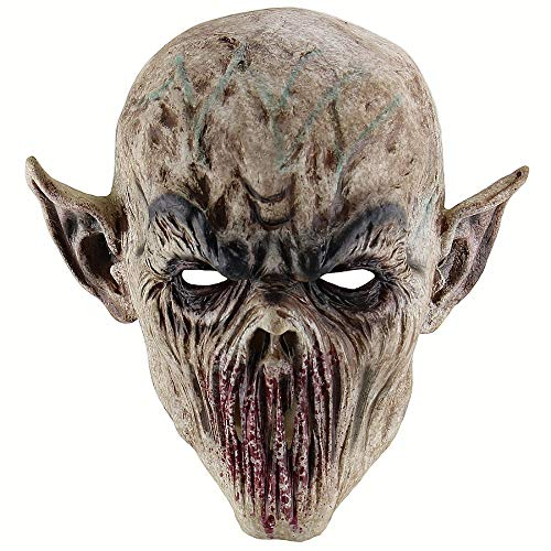 SCLMJ Halloween Bloody Scary Horror Maske Erwachsene Zombie Monster Vampir Maske Latex Kostüm Party Voller Kopf Cosplay Maske