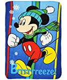 alles-meine.de GmbH Kuscheldecke / Fleecedecke -  Disney - Mickey Mouse / Maus  - 100 cm * 140 cm - Decke aus Fleece - für Mädchen & Jungen - Schmusedecke - Schleife - Jungende..