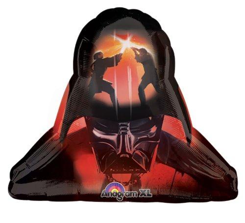 Amscan 29-inch/ 74cm Star Wars Darth Vader Helmet Supershape Foil Balloon (Offizielle Star Wars Darth Vader Kostüm)