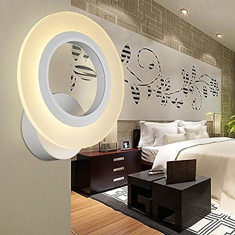 WEIAN minimalista moderno studio LED acrilico creativo matrimonio camera lampada da parete camera da letto navata laterale soggiorno pranzo Applique circolare - Parete Laterale